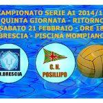 A1 M – Quinta giornata di ritorno – AN Brescia vs CN Posillipo