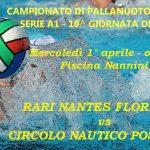 A1 M – Decima giornata di ritorno: RN Florentia vs CN Posillipo