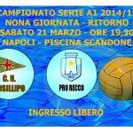 A1 M – Nona giornata di ritorno: CN Posillipo vs Pro Recco