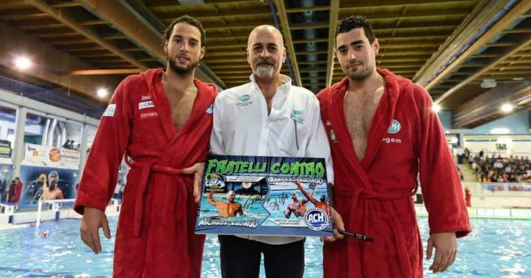 STefano e Michele Luongo con Gianni Averaimo, vice allenatore della Sport Management