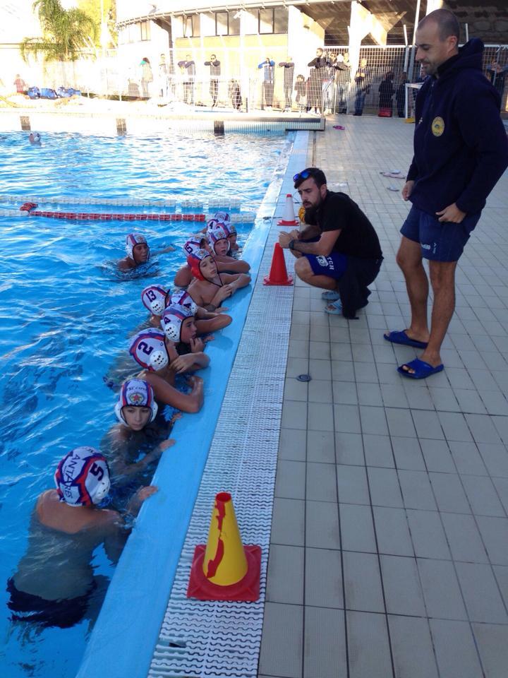 U13 Antares con Coach Eugenio e Gian Marco Pellegrini