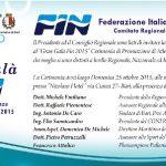 FIN Puglia – Gran Galà FIN a Bari domenica 25 ottobre.