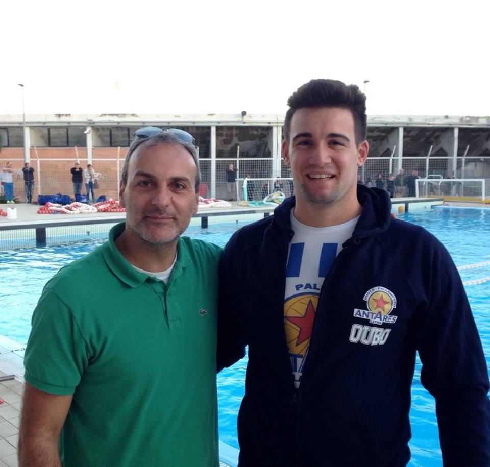 Matteo Zamperin e il Presidente dell'Antares Bruno Davoli