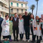 Acquachiara in visita ai piccoli degenti dell'Ospedale Pausilipon