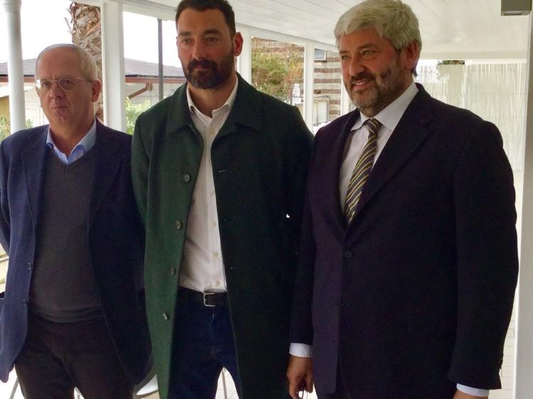 Da sinistra Capurro, Felugo e Buccilli