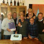 Il Tirrena del 1972 festeggia l'allenatore