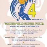 Tornei – Waterpolo Super Four: In acqua Roma Vis Nova, Lazio, Sori e Florentia