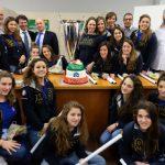 La RN Bogliasco dal Sindaco per i festeggiamenti