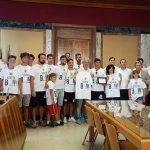 Il sindaco Damiano Coletta premia l'Antares Nuoto Latina