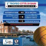 Tornei – Al via allo Stadio del Nuoto la seconda edizione del Trofeo Città di Bari