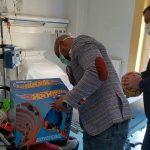 Acquachiara in visita ai bambini dell'ospedale Pausilipon