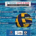 Tornei – Al via domani il IV Trofeo Città di Bari