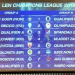 Champions League – Sorteggiate le avversarie del Recco