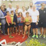 VELE D'EPOCA 2018: Eraldo Pizzo spiega la pallanuoto ai giovani Caimani della RN Imperia