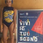 Aurora Cappelluti dell'F&D H2O a Rimini per il Trofeo Kinder + Sport
