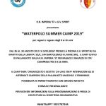 Waterpolo Summer Camp 2019