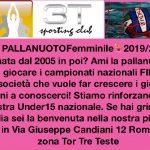 La 3T Sporting Club Frascati cerca ragazze