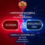 A1 F – Sis Roma al Foro contro il Bogliasco