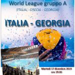 World League – Domani la presentazione a Civitavecchia di Italia-Georgia