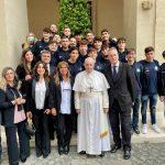 Grande gioia per la Cesport Italia, la società partenopea in udienza dal Papa