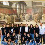 Il sindaco e l'assessore allo Sport del Comune di Catania celebrano il 21° scudetto dell'Ekipe Orizzonte